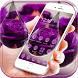 Water drop rose Theme purple by fancy themes