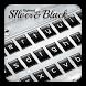 Silver Black Keyboard Theme by Keyboard Dreamer