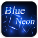 Blue Neon Emoji Keyboard Theme by Colorful Design