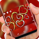 Golden Silver Heart Keyboard Love Romance Theme by Super Hot Themes Design Studio