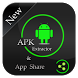 Apk Extractor and share Apps by Risk to Live