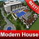 Modern Super Mansion House Map for MCPE by BestMapsAddons