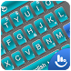 3D Blue Cool Tech Keyboard Theme by Fashion Cute Emoji