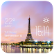 Paris weather widget/clock by Widget Dev Team