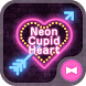 Lovely Theme Neon Cupid Heart by +HOME by Ateam