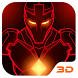 Red Iron Hero 3D Theme by Launcher 3D Pro