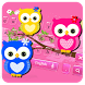 Hued Owl Keyboard Theme by Super Cool Keyboard Theme