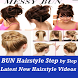 Easy Bun and Messy Hairstyles Step by Step VIDEO by Master Super Apps