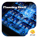 Flaming Skull Eva Keyboard by Eva Awesome Theme