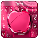Pink Noble Apple Keyboard Theme by 3D / Animated Keyboard Themes
