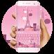 Pink Paris dream keyboard by Bestheme Keyboard Designer 3D &HD