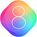 Theme for iPhone 8 HD: Stylish Wallpaper & Icons by cool launcher theme designer