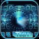 Blue technology Keyboard Theme by hot keyboard themes