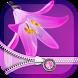 Pink Flower Zipper Lock Screen by Thalia Ultimate Photo Editing