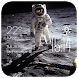 Astronaut weather widget/clock by Widget Dev Team