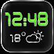 LED Digi Clock Weather Widget