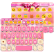 Pink Bowknot Keyboard Theme by Colorful Art