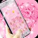 Diamond pink flower theme