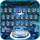 galaxy blue space keyboard universe 3d hologram by Keyboard Theme Factory