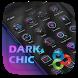 Dark Chic GO Launcher Theme by Freedom Design