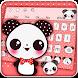 Lovely Panda Bow Theme Keyboard