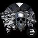 Hell Skull Silver Metal Cool Keyboard by Bestheme Keyboard Designer