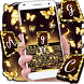 Gold Butterfly Keyboard Theme by Super Cool Keyboard Theme