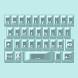 Aqua Pearl Keyboard Skin by Stealthychief Keyboard Themes