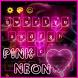 Neon Pink Heart Keyboard by M Typewriter Theme Studio