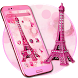 Pink Diamond Eiffel Tower Theme by Launcher Fantasy