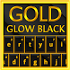 Gold Glow Black Keyboard Theme by Inner Works Studios