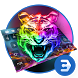 Colorful fire tiger keyboard by Bestheme Keyboard Designer