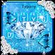 Blue Diamond Glitter Typany Keyboard by 3D / Animated Keyboard Themes