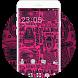 Cool Skull Biker Motorcycle Helmet Pinky Theme by Mobo Theme Apps Team