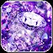Purple Diamond Glitter Theme by AllIn Themes App