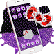 Purple Black Diamond Kitty Theme by Angela Themes