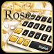 Golden Love Rose Keyboard by Cool Keyboard Theme Studio