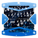 Blue Desire Keyboard Theme by Gradient Themes