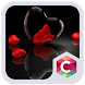 Romantic Hearts Theme: Red Color Black heart Love