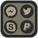Shadowy Oreo Icon Pack by The Gosa