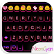 Cute Neon Emoji Keyboard Theme by Colorful Art