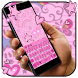 Pink heart art keyboard by HD wallpaper launcher tema
