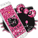 Pink Kitty Shine Leopard Cute Kitten Theme by Christina_Liang