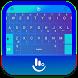Blue Shades Keyboard Theme by Fashion Cute Emoji