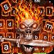 Red Tech Skull Sword Keyboard by Super Cool Keyboard Theme