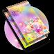 Smart Pixel Flower Phone Theme