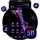 3d tidy business purple black shiny theme by cool theme and wallpapers