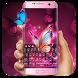 Glow butterfly keyboard by Bestheme Keyboard Designer 3D &HD