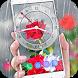 Rose Analog Clock 3D: Rain Drop Live Wallpaper HD by Deeko Games