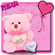 Pink teddy bear cute theme by cool theme designer